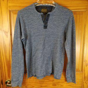 Lucky Brand Blue Grey Henley Size Medium